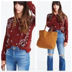 NWT Madewell bandana sweater Sz M (s223)
